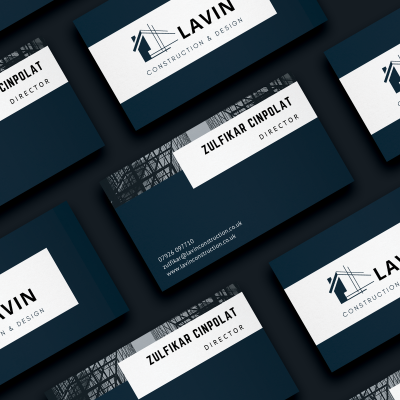 lavin business card mock up